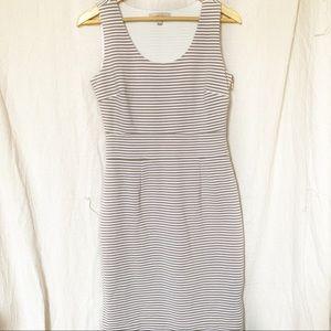 Banana Republic Striped Dress Pencil Tan Size 4